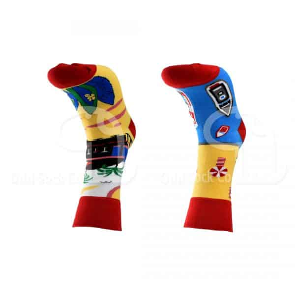 Besides the seaside themed socks from odd sock co front view