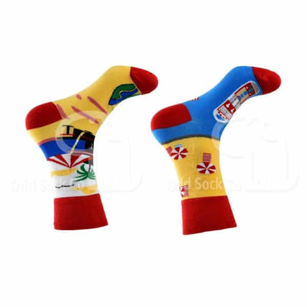 Besides the seaside themed socks from odd sock co right view