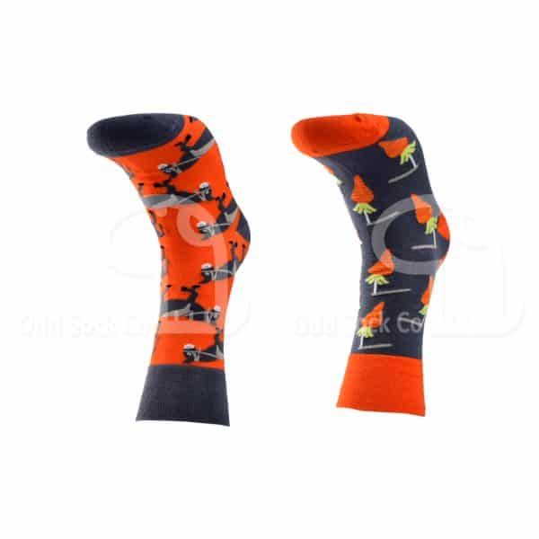 Carrot And Stick Donkey Themed Socks Odd Sock Co Front View