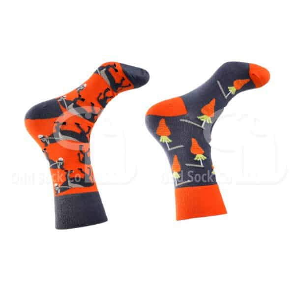 Carrot And Stick Donkey Themed Socks Odd Sock Co Right View