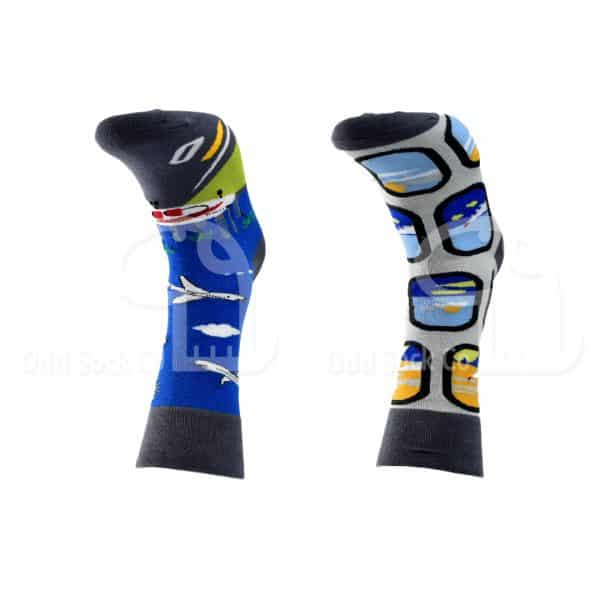 Mile High Aeroplane Themed Socks Odd Sock Co Front View