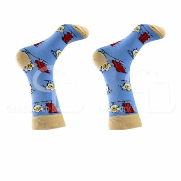 Bacon And Egg Themed Socks Right View