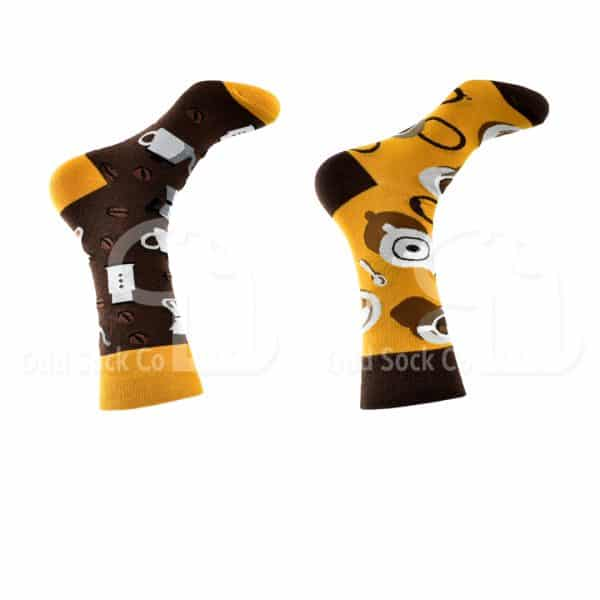 Coffee Pot Themed Socks Odd Sock Co Right View