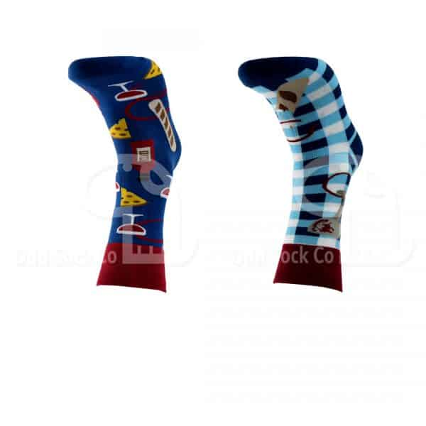 Going For A Picnic Themed Socks Odd Sock Co Front View