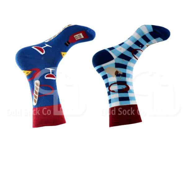 Going For A Picnic Themed Socks Odd Sock Co Right View