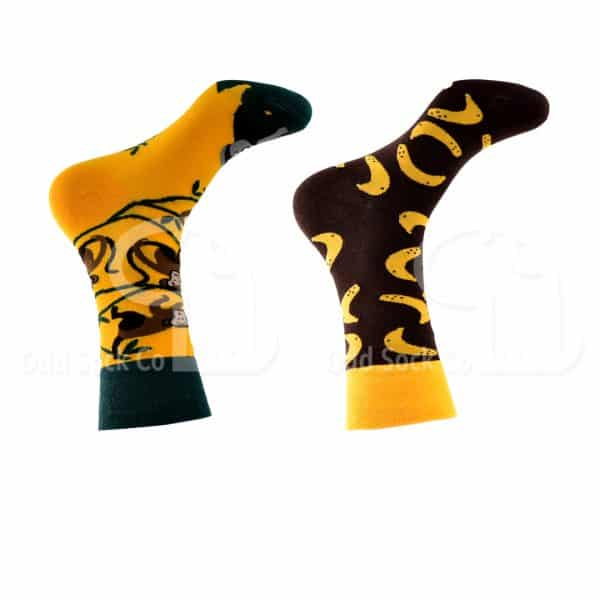 Monkeying Around Themed Socks Odd Sock Co Right View