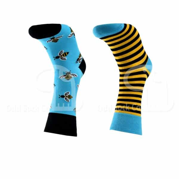 Mr Do-Bee Themed Socks Odd Sock Co Front View