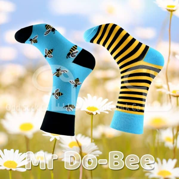 Mr Do-Bee Themed Socks Odd Sock Co Social View